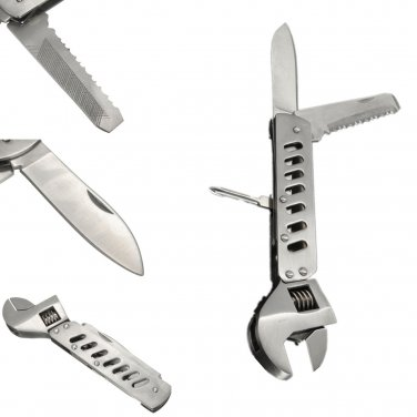 Multifunction Adjustable Wrench Jaw Screwdriver Pliers Set Camping Survival Gear