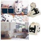 Toys Storage Bags Canvas Cute Bear Batman Laundry Bag Pouch