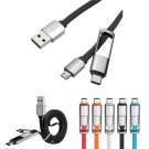 2 In 1 Multi-function USB 3.1 Type C Micro USB Male to USB 2.0 Male Data Cable