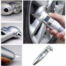 4 IN 1 LCD Digital Tire Gauge Safety Hammer Flashlight Seat Belt Cutter