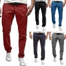 Mens Casual Solid Color Sport Harem Pants Fitted Trousers