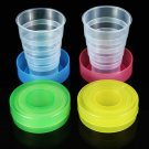 Plastic Outdoor Folding Water Cup Camping Hiking Folding Drinking Cup