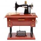 Mini Treadle Sewing Machine Mechanical Music Box
