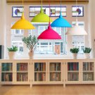 Pendant Lamp Holder Colorful Silicone Folding Lampshade Ceiling Light Socket AC 110-240V