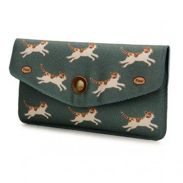 Nylon Cute Cat Clutch Long Wallet Phone Bag