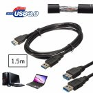 5Gbps 1.5m High Speed USB 3.0 Male to Female Short Cable Extension For Tablet