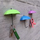 3Pcs Creative Umbrella Shape Home Decoration Hook