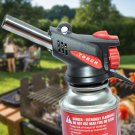 360 Degree Portable Gas Torch Flamethrower Burner Butane Gas Blow Outdoor Camping BBQ