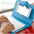 Universal Wireless Bluetooth Keyboard Holster Flip PU Case Cover For Cellphone in 4.5''-6.5''