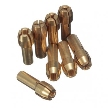 8pcs 1mm/1.6mm/2.3mm/3.2mm Brass Collet for Dremel Rotary Tool