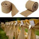 3M 6CM Vintage Jute Hessian Burlap Ribbon Strap Wedding Party Decoration