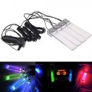 Car 4 LED 12V Auto Interior Decorative Atmosphere RGB Flash Lights Colorful Lamp