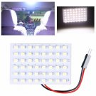 12V 48 SMD LED Panel Car Interior Light Bulb T10 Dome BA9S Adapter White