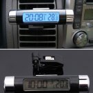 Car Digital LCD Display Temperature Thermometer Monitor Time Clock