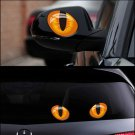 3D Car Vivid Decoration Cat Eyes Stickers Window Rear Mirror Car Decal Vinyl