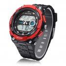 Back Light Sport Round Dial Alarm Men Women Quartz Watch