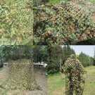 2x3m Woodlands Leaves Hide Jungle Camouflage Netting Camo Net For Camping Military Hunting