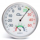 Wall Mounting Round Pointer Type Temperature Humidity Meter Garden Greenhouse