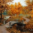 DIY Oil Painting By Numbers Autumn Frameless Canvas Home Wall Decor 40x50cm