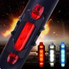 LED USB Rechargeable Safety Warning Light For Cycling