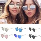 Women Metal Frame Flip Up Sunglasses Eyewear Shades
