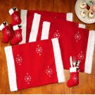 8Pcs Christmas Dining Table Mat Tableware Sock Set