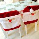 1PCS Christmas Chair Cover Santa Claus Hat Decor
