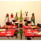 1PCS Christmas Santa Claus Cloth Dining Table Mat Pads