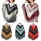 Autumn Women Soft Wrap Long Scarf Pullover Shawl Knited Sweater