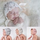 Baby Infant Kids Lace Floral Bonnet Hat Photo Prop