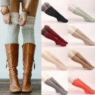 Female Knit Lace Over Knee Thigh High Stockings Crochet Winter Boots
