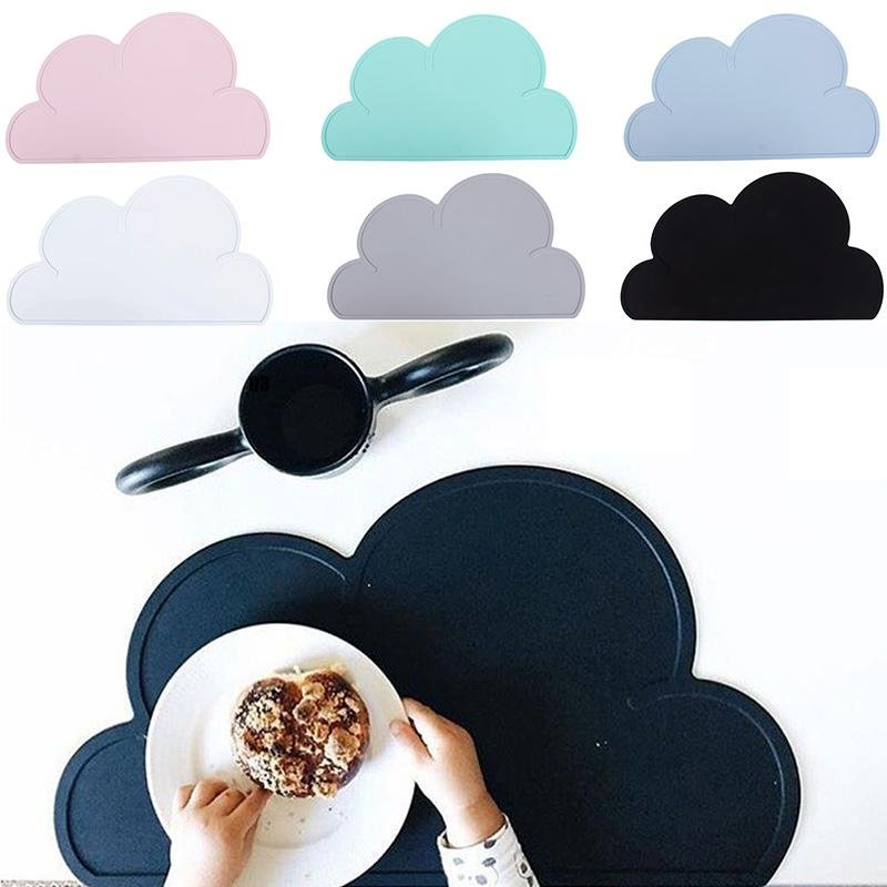 Kids Cloud Shaped Tableware Mat Heat Resistant Silicone Kitchen Utensil
