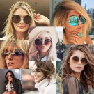 Retro Stylish Fashion Women Big Round Sun Eyeglasses Summer Sunglasses