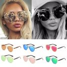 Casual Women's Fashion Colorful Metal Round Box Sunglasses