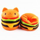 Squishy Cat Burger Slow Rising Soft Animal Collection Gift Decor Toy