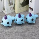 Squishy 11cm Narwhal Uni Blue Whale Slow Rising Soft Collection Gift Decor Toy