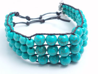 garlicfashion special elegant women fashion Tulum turquoise bracelet
