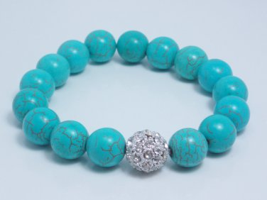 garlicfashion special elegant women fashion SOIREE turquoise pave bracelet