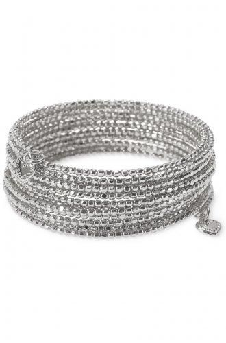 garlicfashion special elegant women fashion Bardot Spiral Bangle silver