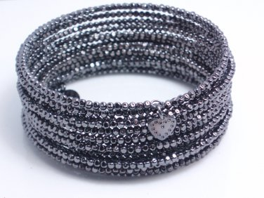 garlicfashion special elegant women fashion Bardot Spiral Bangle black