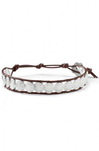garlicfashion special elegant women fashion signature Scallop & leather bracelet