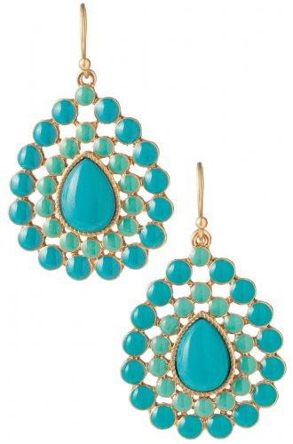 garlicfashion special elegant women fashion Charlize Teardrop turquoise earrings