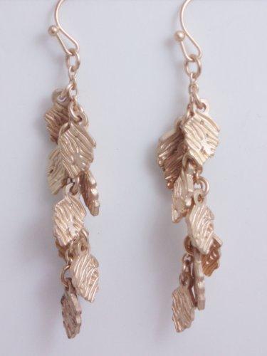 garlicfashion special elegant women fashion gold leaf dangle earrings