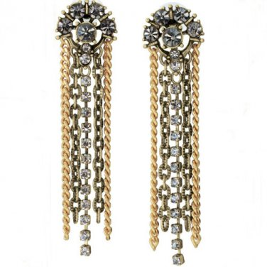 garlicfashion special elegant women fashion Cleo Fringe statement earrings RV49