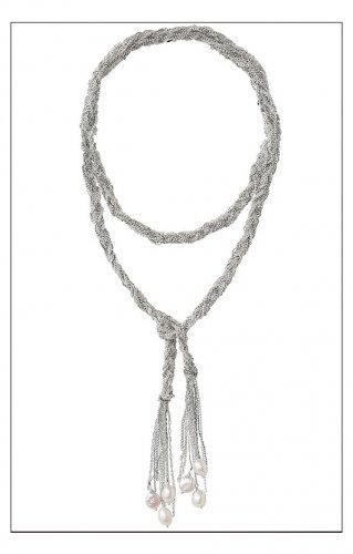 garlicfashion special elegant women fashion Josephine Pearl Lariat Necklace