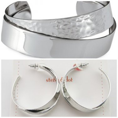 garlicfashion special elegant women fashion Corso silver cuff earrings