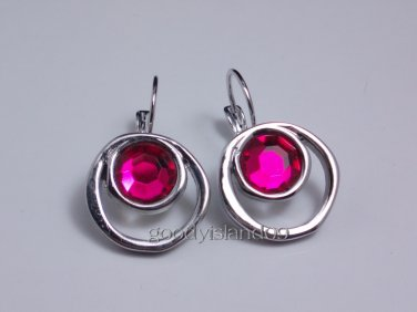 garlicfashion DIY handmade women fashion Pink cotton candy stud earrings