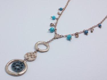 garlicfashion DIY handmade women fashion Triad matte gold Loops necklac