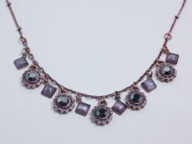 garlicfashion DIY handmade women fashion Demure Lavender Copper necklace RV26