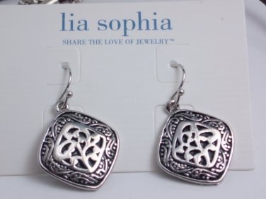 garlicfashion DIY handmade women fashion Sheridan silver embossed earrings